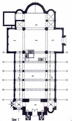 Ebene 1 Umbauplan Kirche